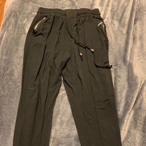 Black legging type joggers